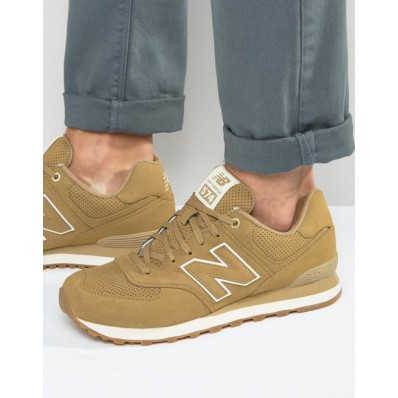 new balance - 420 - baskets en daim - beige