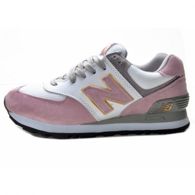 new balance 574 dames grijs roze
