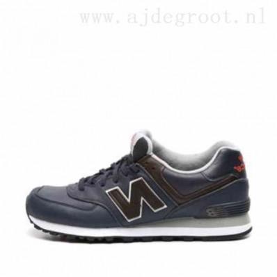 new balance 574 zwart leer