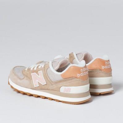 new balance beige pink orange