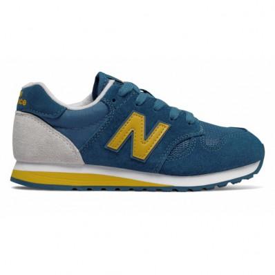 new balance blauw met geel
