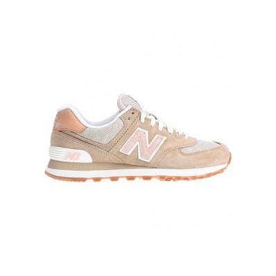 new balance wl574 en cuir beige
