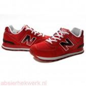 new balance 574 heren rood