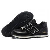 new balance sneakers zwart leer
