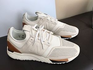 new balance white beige