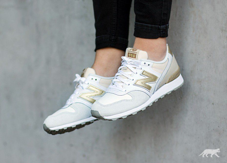 new balance wr996 beige × white × gold